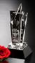 "Acclaim Star Crystal Trophy   Star Corporate Award - 8"", 10"" & 12"" - Medium 10"""