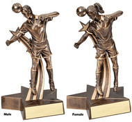 Soccer Superstars in Action Trophy - Male / Female | Fútbol Award