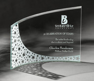 "Breeze Plaque Crystal Corporate Award - 7.75"" & 9"" - Engraved"