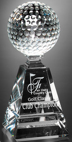 Golf Pyramid Crystal Corporate Award