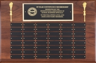 Perpetual Plaque - Genuine Walnut with 48 Black Brass Plates