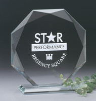 Omni Octagon Crystal Corporate Award - 3 Sizes