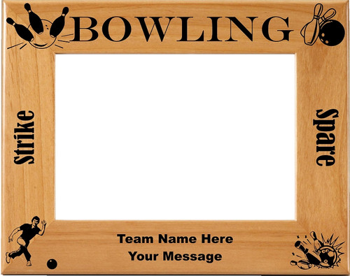 Bowling Picture Frame -Personalized