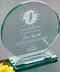"Cromwell Circle Crystal Corporate Award - Large 8"" Dia."