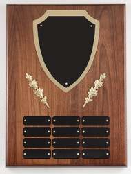 Perpetual Plaque - Genuine Walnut with Shield Title Plate