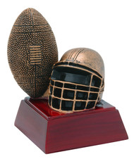 Football Sculptured Trophy | Engraved Gridiron Award - 4 Inch Tall