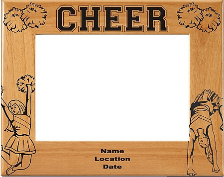 Cheerleading Picture Frame 3 - Horizontal