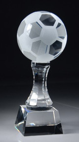 Soccer Ball Crystal  Trophy