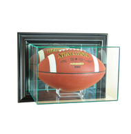 Wall Mounted Football Glass Display Case - Black Trim