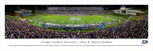 Georgia Southern University Panorama Print #2 (50 Yard) - Unframed