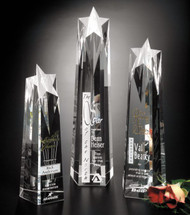 "Polaris Star Tower Crystal Trophy | Star Corporate Award - 10"", 12"" & 14"""