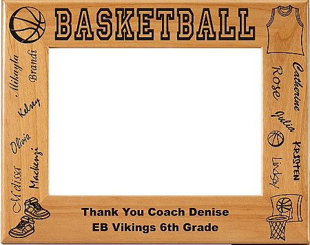 Basketball Names Picture Frame Personalized
