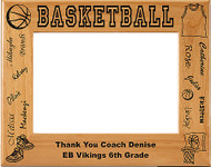 Basketball NAMES Picture Frame - Personalized
