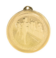 Cross Country BriteLazer Medal - Gold, Silver & Bronze | Engraved Running Medallion | 2 Inch Wide Cross Country BriteLazer Medal - Gold