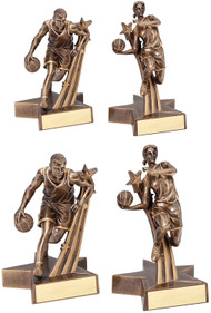 Superstars in Action Basketball Trophy - Male or Female - Large & Small