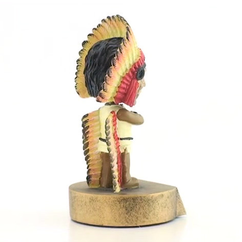 Indian Mascot Bobble Head Trophy