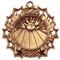 Bowling Ten Star Medal - Gold, Silver or Bronze | Bowler 10 Star Medallion | 2.25 Inch Wide Bowling Ten Star Medal - Bronze