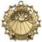 Bowling Ten Star Medal - Gold, Silver or Bronze | Bowler 10 Star Medallion | 2.25 Inch Wide Bowling Ten Star Medal - Gold