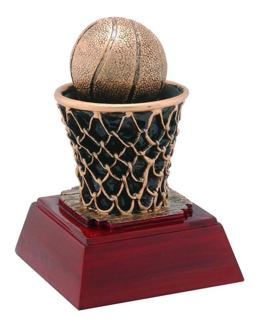 Basketball Sculptured Trophy | Engraved Basketball Award- 4 Inch Tall