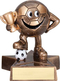 Soccer Lil' Buddy Trophy | Engraved Smiling Fútbol Award - 4 Inch Tall