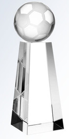 Crystal Soccer Ball Tower Trophy