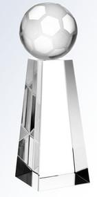 Soccer Ball Crystal Tower Trophy | Fútbol Award