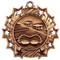 Swimming Ten Star Medal - Gold, Silver or Bronze | Swim Meet 10 Star Medallion | 2.25 Inch Wide Swimming Ten Star Medal - Bronze