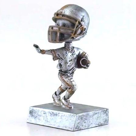 "Football ""Rock 'n Bop"" Bobblehead Trophy   Double Action Bobblehead Football Award   5.5 Inch Tall"