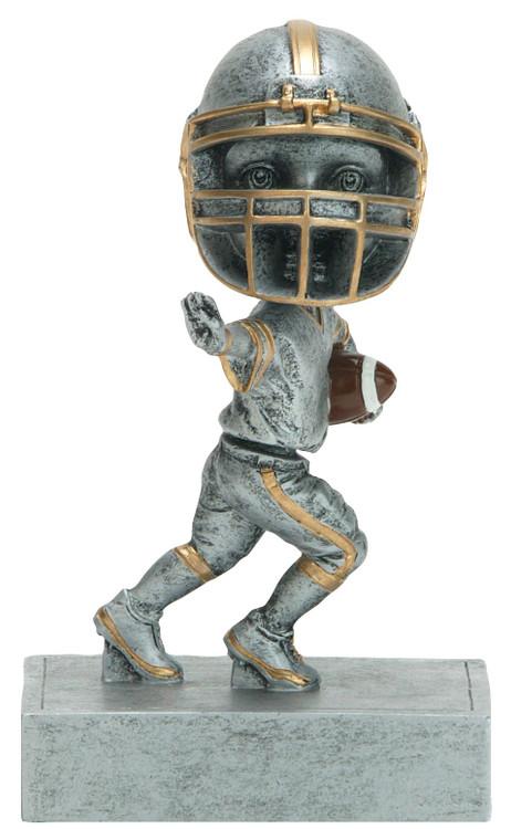 "Football ""Rock 'n Bop"" Bobblehead Trophy | Double Action Bobblehead Football Award | 5.5 Inch Tall"