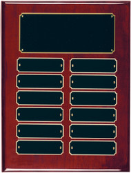 Perpetual Plaque with Rosewood Piano-Finish  - 12 Plates