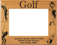 Golf Female Picture Frame - Personalized