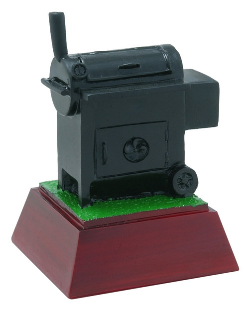 BBQ Color Resin Trophy   BBQ Color Smoker Award - 4 Inch Tall
