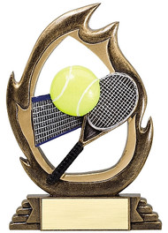 Tennis Flame Series Trophy | Tennis Award - 7.25""