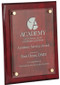Floating Glass Plaque with Rosewood Piano Finish - 3 sizes
