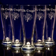 Beer Pilsner Glasses - Personalized