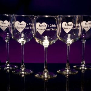 Wine Balloon Glasses - Personalized
