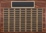Perpetual Plaque - Walnut Finish with 84 Black Brass Engraving Plates
