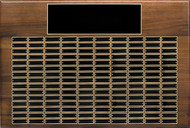 Perpetual Plaque - Genuine Walnut with 150 Black Brass Plates
