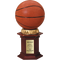 "Basketball Resin Sculpture Trophy - 12"" Tall - Clearance"