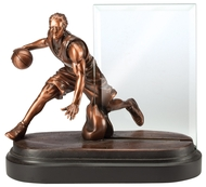 Basketball Story Glass Award | Engraved Basketball Sport Hero Award - 7 Inch Tall
