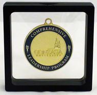 "Challenge Coin / Medal Illusion Presentation Box - 3.5"" Black"