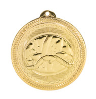 Martial Arts BriteLazer Medal - Gold, Silver & Bronze | Engraved Karate Medallion | 2 Inch Wide Martial Arts / Karate BriteLazer Medal - Gold