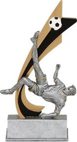 Soccer Signature Series Live Action Resin Trophy  | Fútbol Award  - Clearance