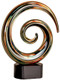 "Art Glass Trophy - Swirl | Art Glass Corporate Award - 7.5"""