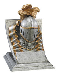 Knight Spirit Mascot Trophy | Engraved Knight Award - 4 Inch Tall
