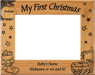 My First Christmas Picture Frame - Personalized