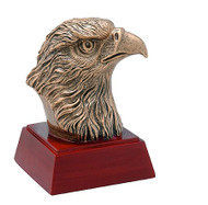 Eagle Mascot Sculptured Trophy   Engraved Eagle Award - 4 Inch Tall