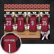 Arizona Coyotes Locker Room Print - Personalized