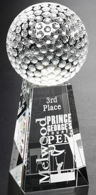 Tapered Crystal Golf Award - Small