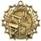 Gymnastics Ten Star Medal - Gold, Silver or Bronze | Gymnastics 10 Star Medallion | 2.25 Inch Wide Gymnastics Ten Star Medal - Gold